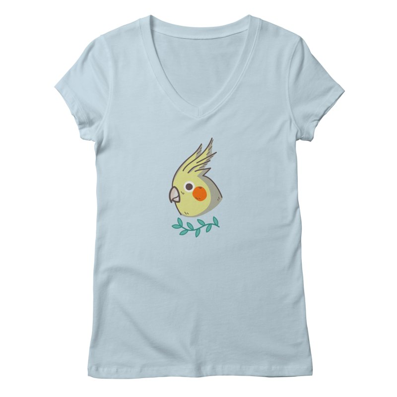cockatiel Women's Regular V-Neck by Casandra Ng