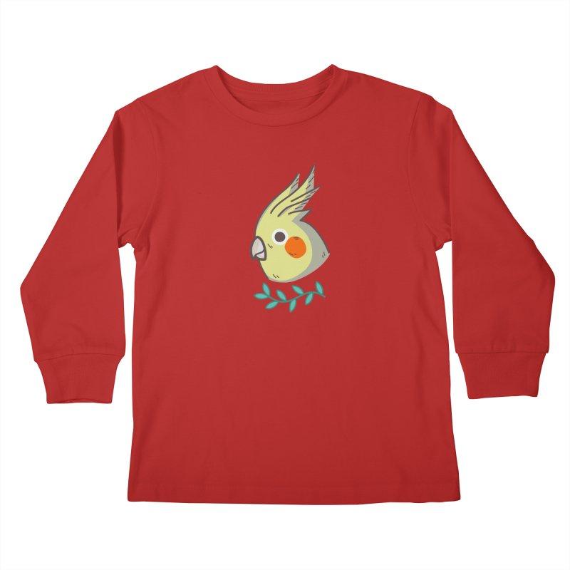cockatiel Kids Longsleeve T-Shirt by Casandra Ng