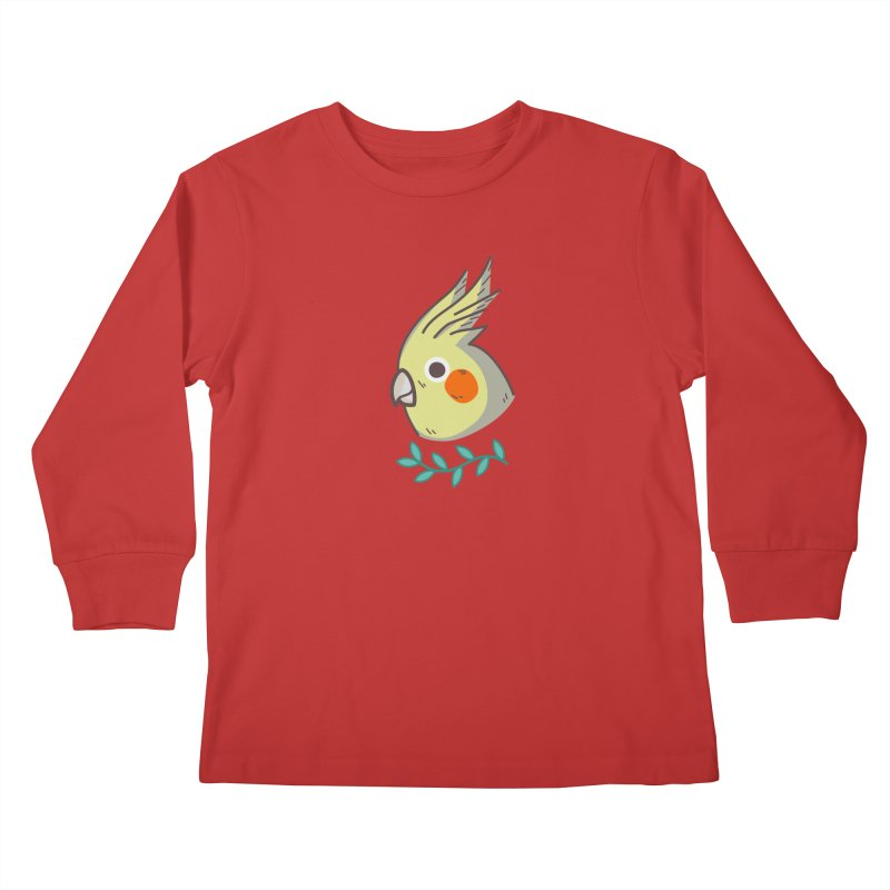cockatiel Kids Longsleeve T-Shirt by Casandra Ng