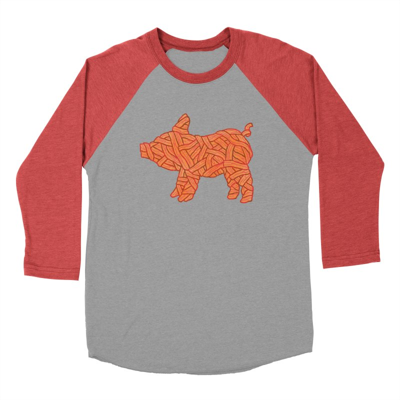 lil' bacon Women's Baseball Triblend T-Shirt by Casandra Ng