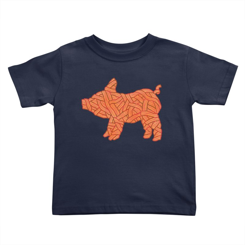 lil' bacon Kids Toddler T-Shirt by Casandra Ng