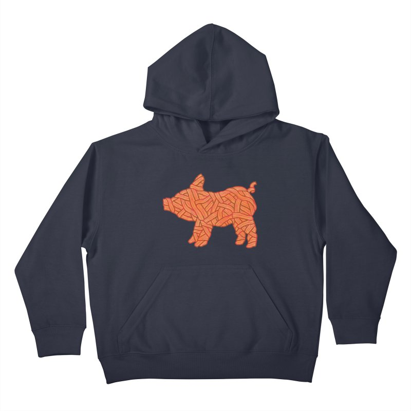 lil' bacon Kids Pullover Hoody by Casandra Ng