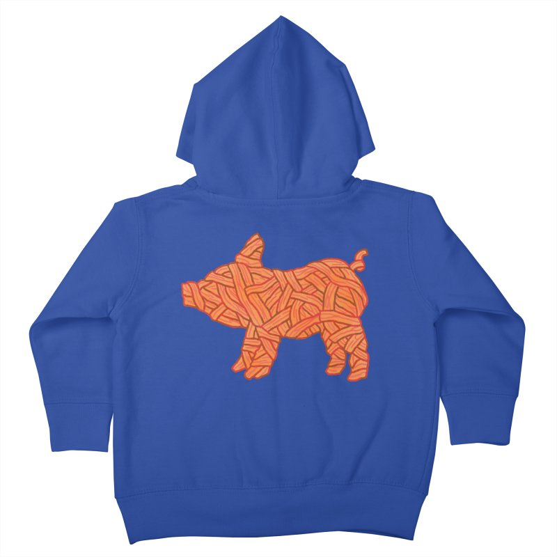 lil' bacon Kids Toddler Zip-Up Hoody by Casandra Ng