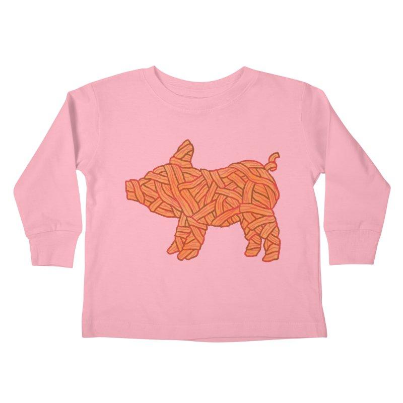 lil' bacon Kids Toddler Longsleeve T-Shirt by Casandra Ng