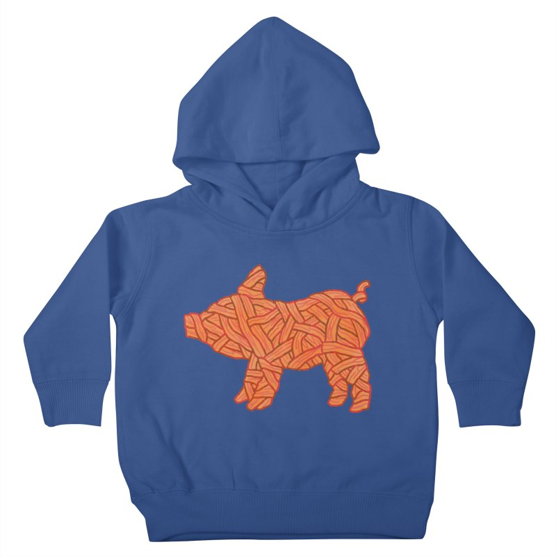 lil' bacon Kids Toddler Pullover Hoody by Casandra Ng