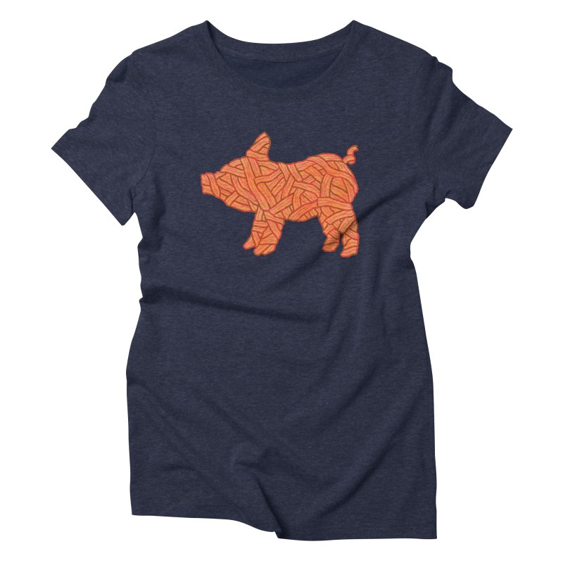 lil' bacon Women's Triblend T-shirt by Casandra Ng