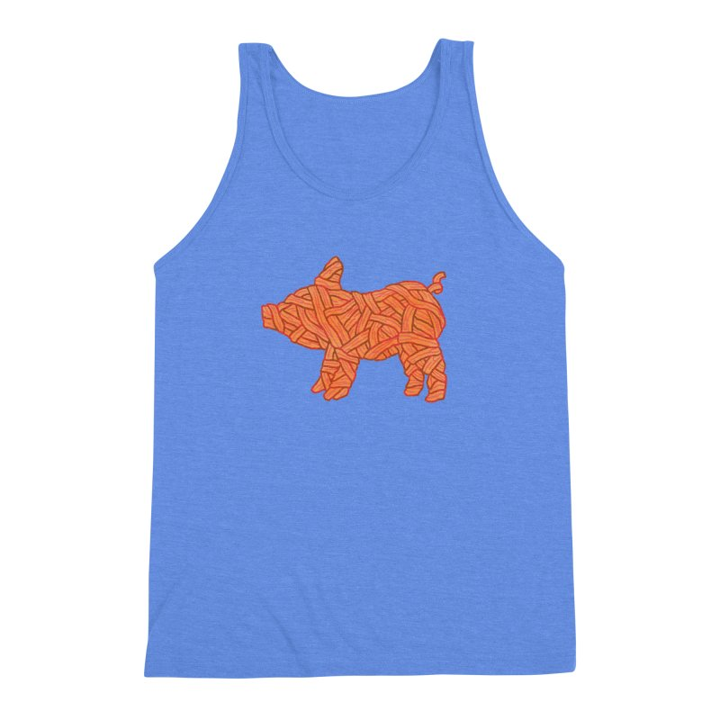 lil' bacon Men's Triblend Tank by Casandra Ng