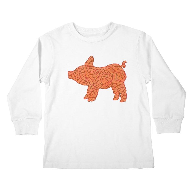 lil' bacon Kids Longsleeve T-Shirt by Casandra Ng