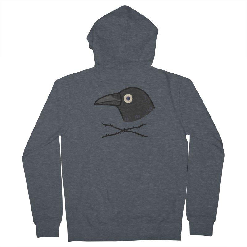 crow Men's Zip-Up Hoody by Casandra Ng