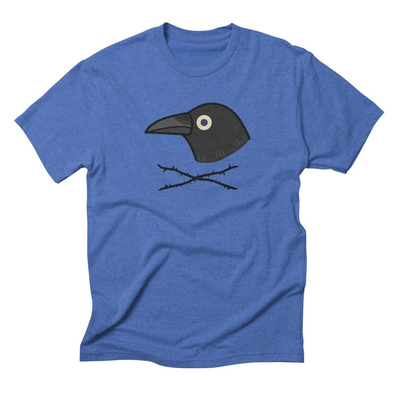 crow Men's Triblend T-Shirt by Casandra Ng