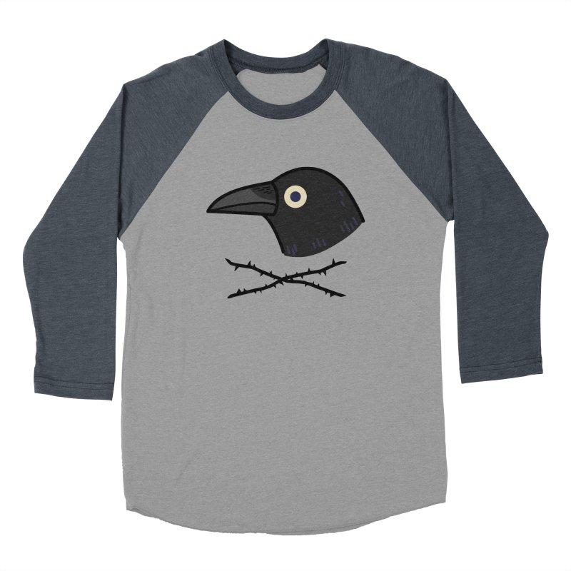 crow Women's Baseball Triblend T-Shirt by Casandra Ng