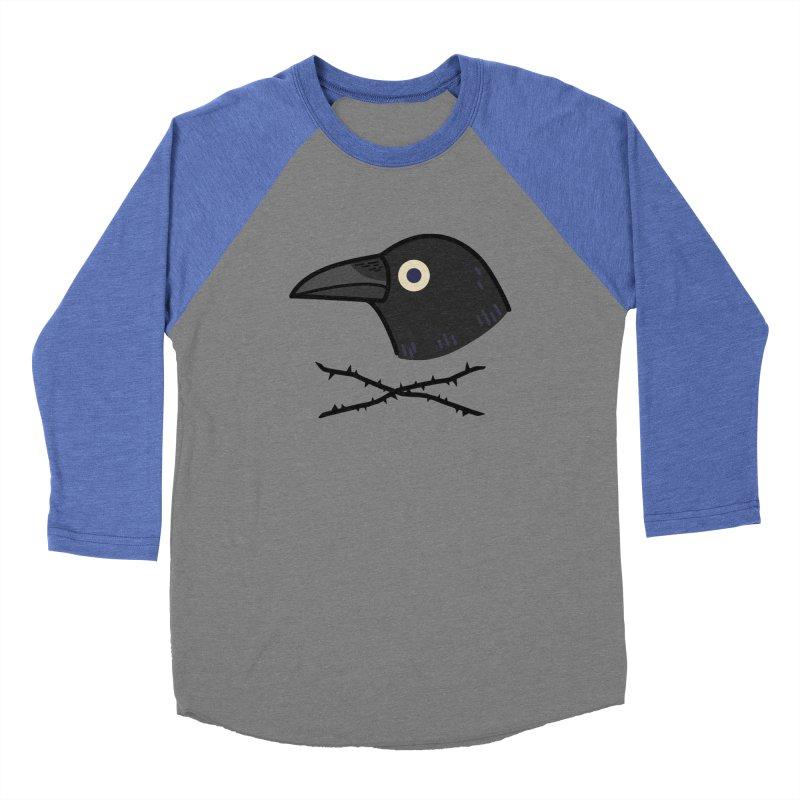 crow Men's Baseball Triblend T-Shirt by Casandra Ng
