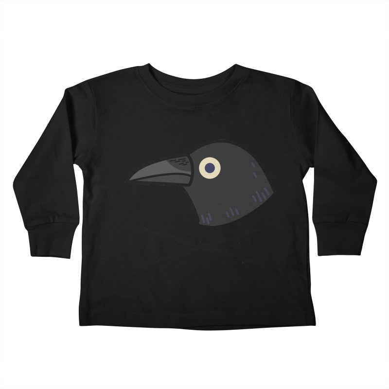 crow Kids Toddler Longsleeve T-Shirt by Casandra Ng