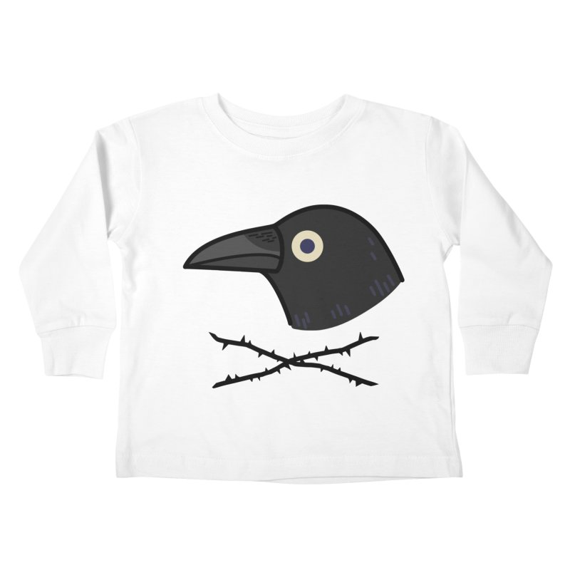 crow Kids Toddler Longsleeve T-Shirt by Casandra Ng