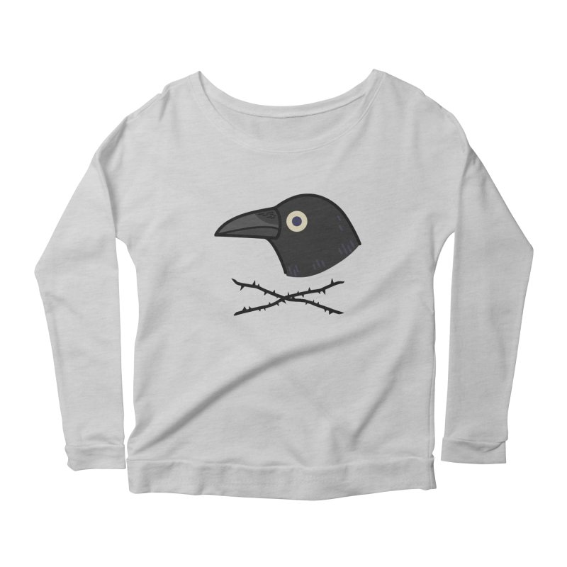 crow Women's Scoop Neck Longsleeve T-Shirt by Casandra Ng