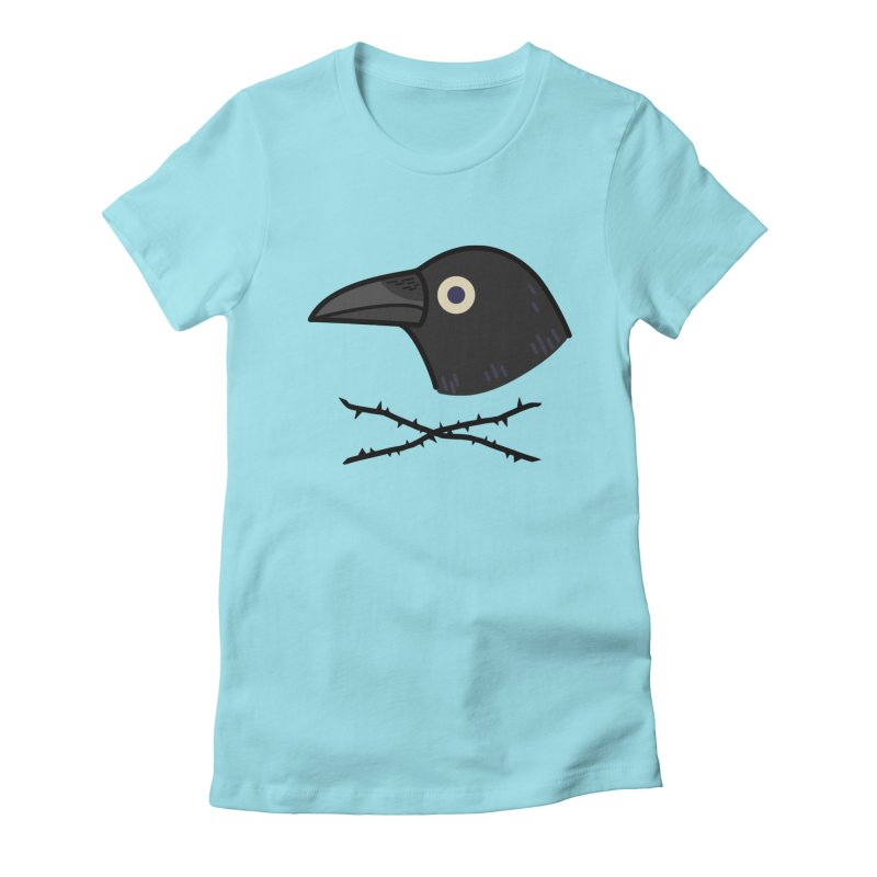 crow Women's Fitted T-Shirt by Casandra Ng