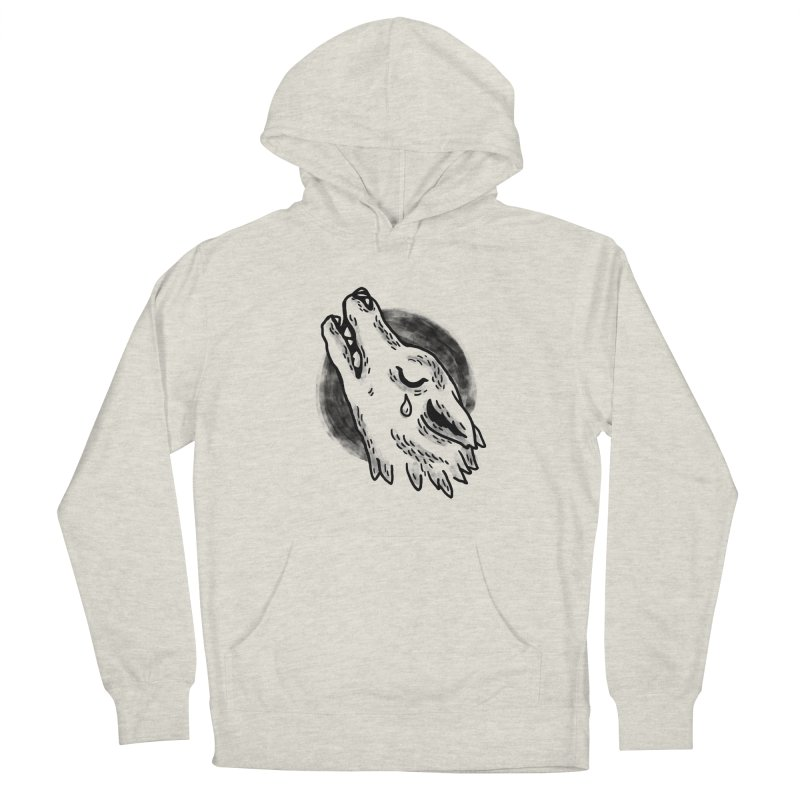 crying wolf Men's Pullover Hoody by Casandra Ng