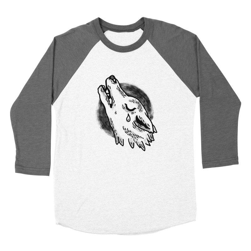 crying wolf Women's Baseball Triblend T-Shirt by Casandra Ng
