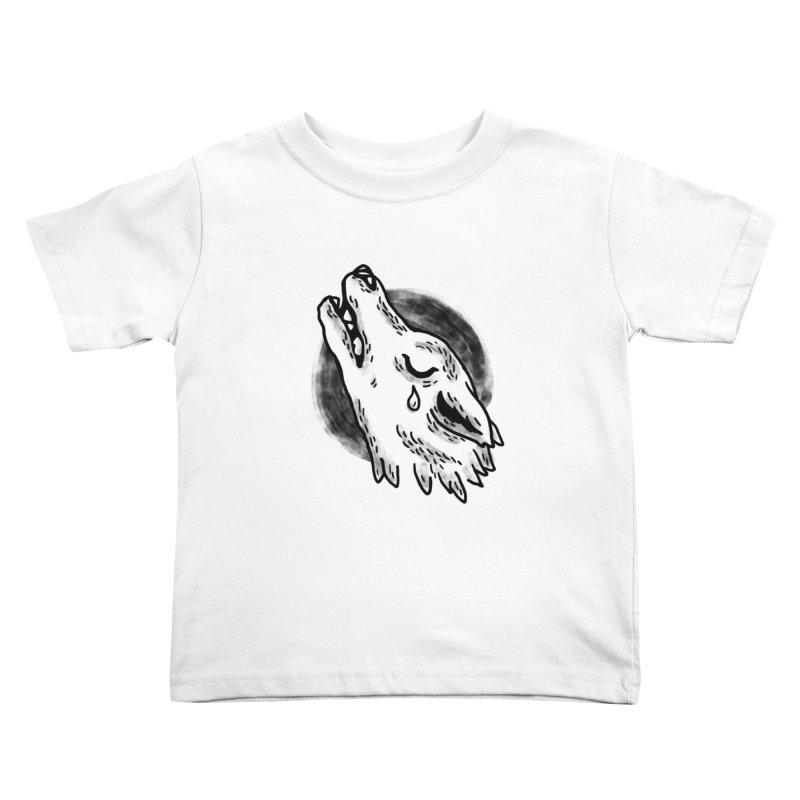 crying wolf Kids Toddler T-Shirt by Casandra Ng