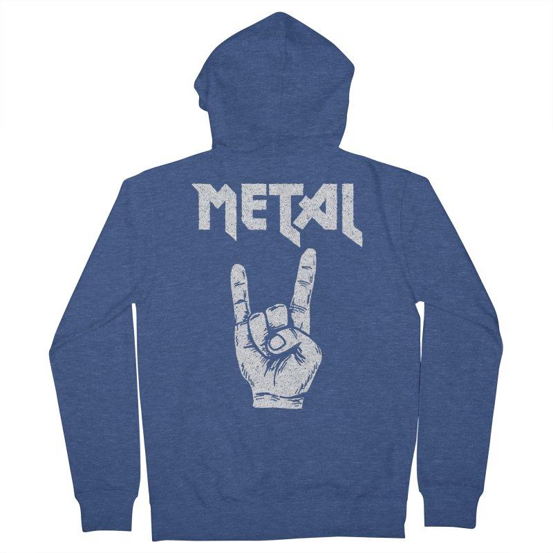Metal Men's Zip-Up Hoody by caseybooth's Artist Shop
