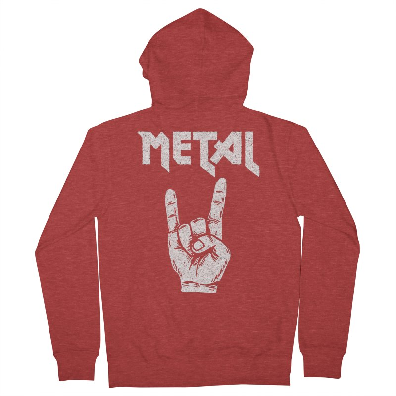 Metal Men's Zip-Up Hoody by caseybooth's Artist Shop
