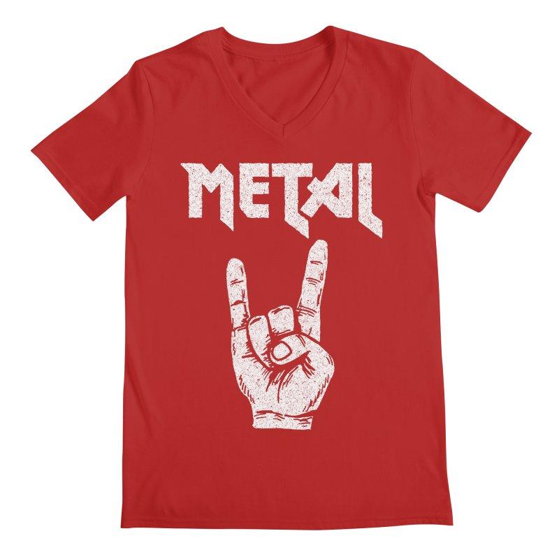 Metal Men's V-Neck by caseybooth's Artist Shop