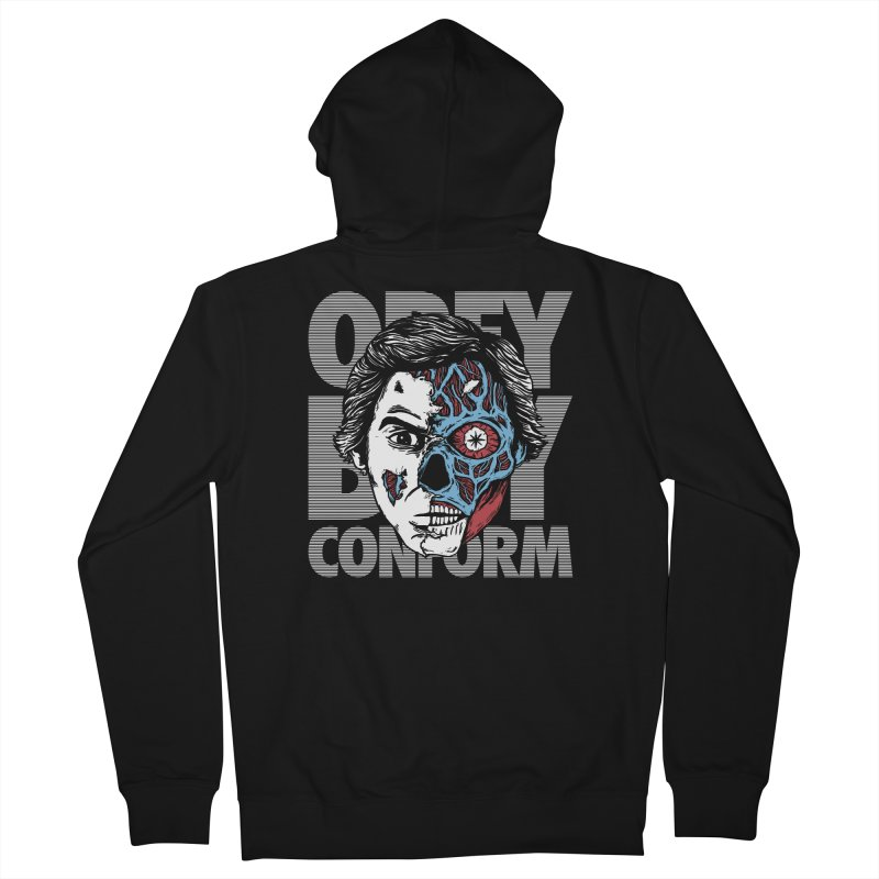 Obey. Buy. Confrom. Men's Zip-Up Hoody by caseybooth's Artist Shop