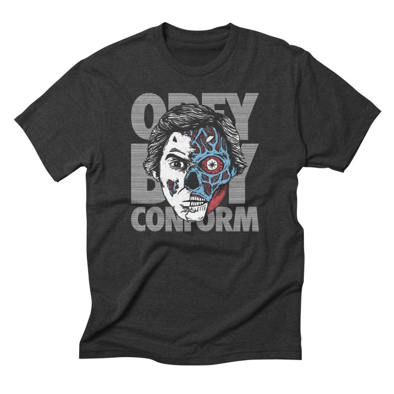 Obey. Buy. Confrom. Men's Triblend T-Shirt by caseybooth's Artist Shop