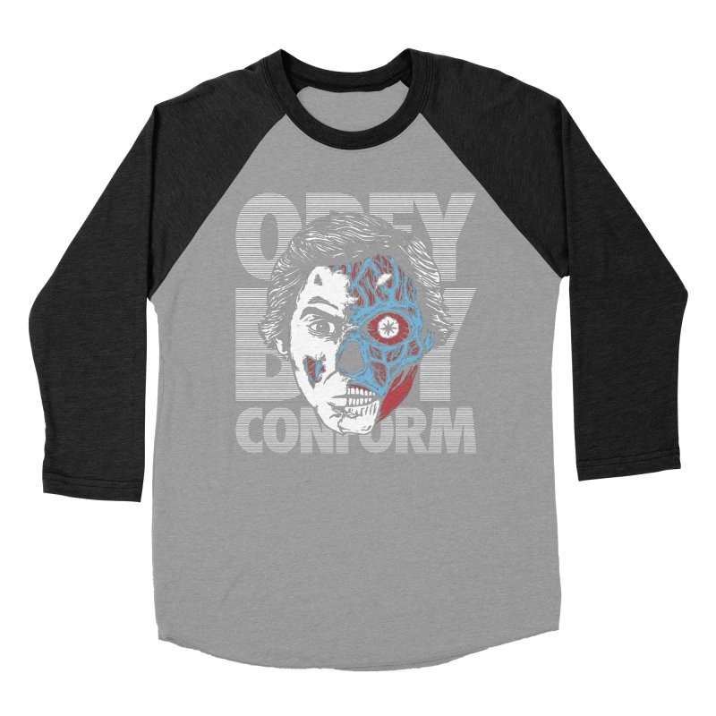 Obey. Buy. Confrom. Men's Baseball Triblend T-Shirt by caseybooth's Artist Shop