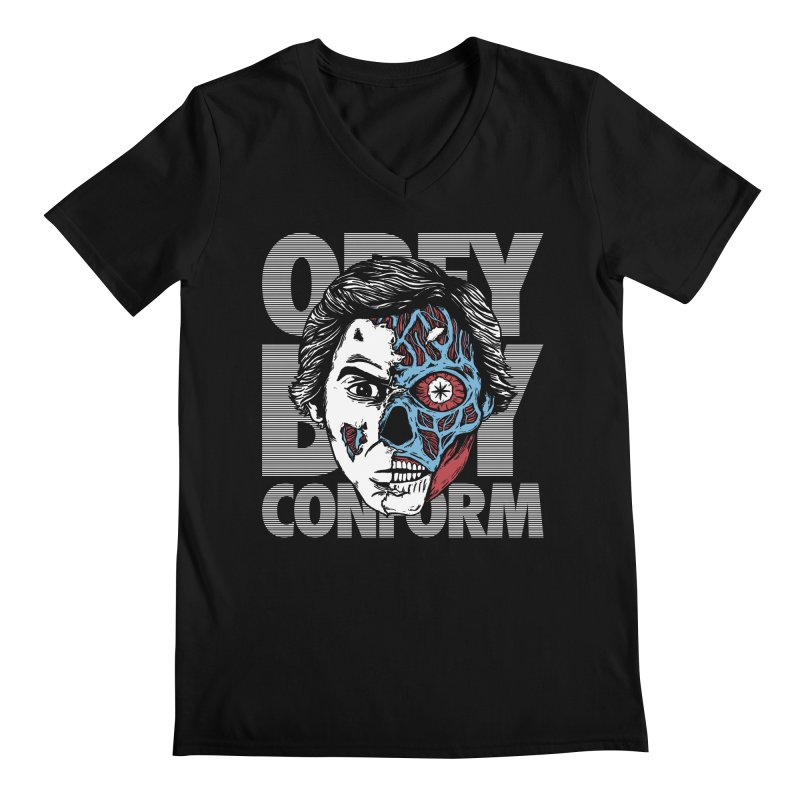 Obey. Buy. Confrom. Men's V-Neck by caseybooth's Artist Shop