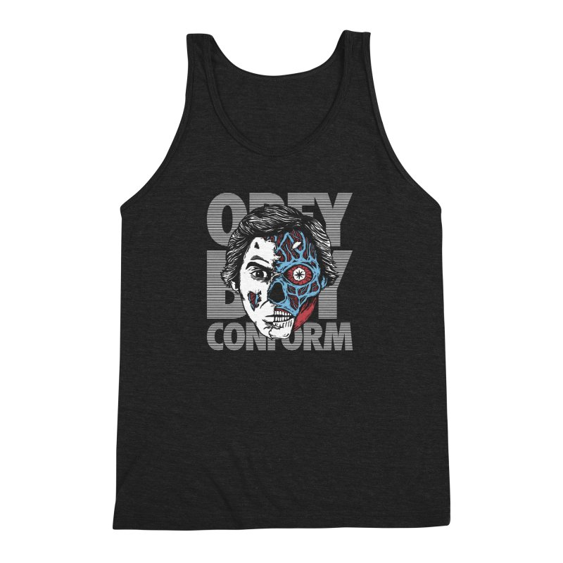 Obey. Buy. Confrom. Men's Triblend Tank by caseybooth's Artist Shop