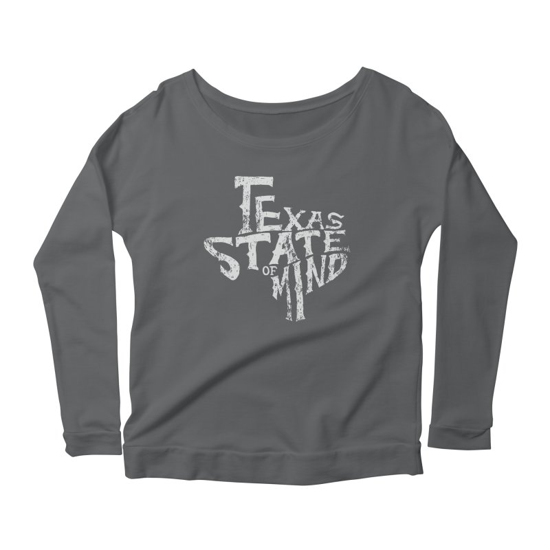 Texas State of Mind Women's Longsleeve Scoopneck  by caseybooth's Artist Shop