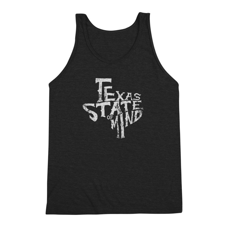 Texas State of Mind Men's Triblend Tank by caseybooth's Artist Shop