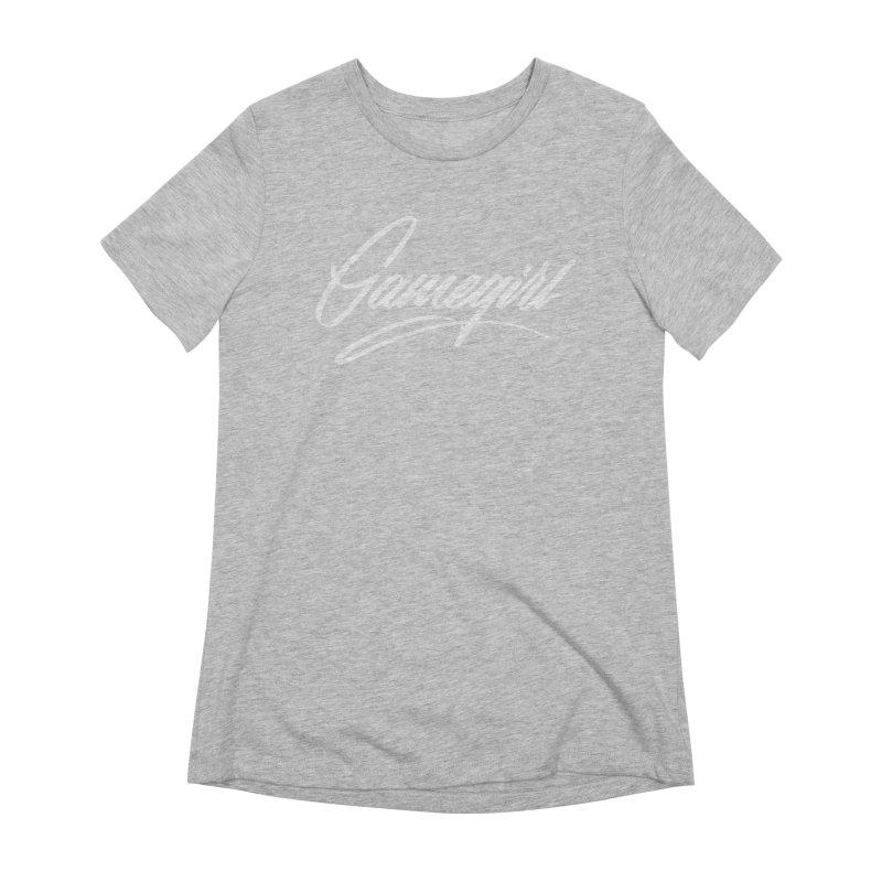GAMEGIRL Women's T-Shirt by Original hand lettered apparel