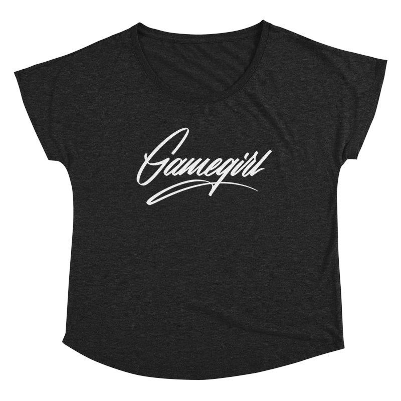 GAMEGIRL Women's Scoop Neck by Original hand lettered apparel