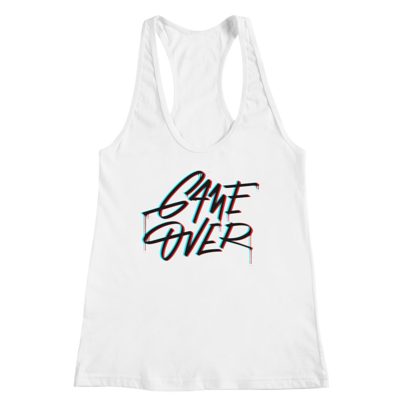 Game Over Women's Tank by Original hand lettered apparel