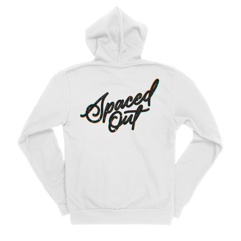 Spaced out Men's Zip-Up Hoody by Original hand lettered apparel