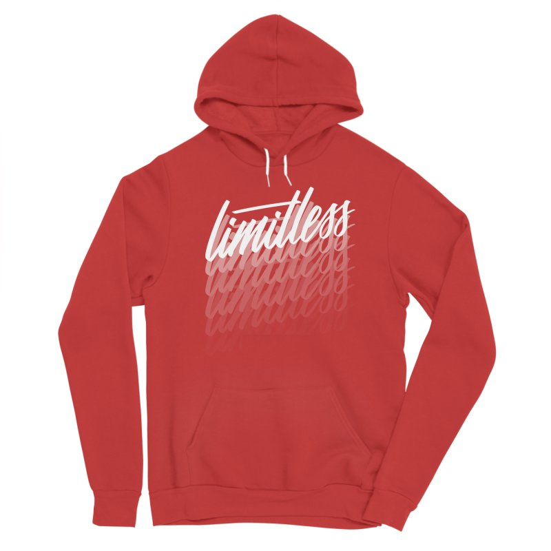 Limitless - White Women's Pullover Hoody by Original hand lettered apparel