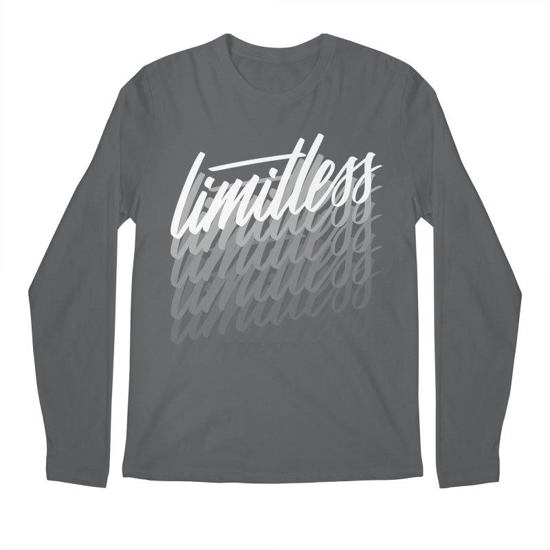 Limitless - White Men's Longsleeve T-Shirt by Original hand lettered apparel