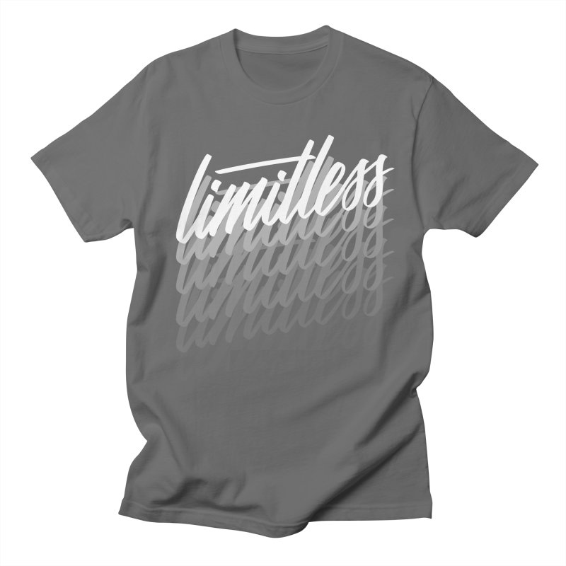 Limitless - White Men's T-Shirt by Original hand lettered apparel