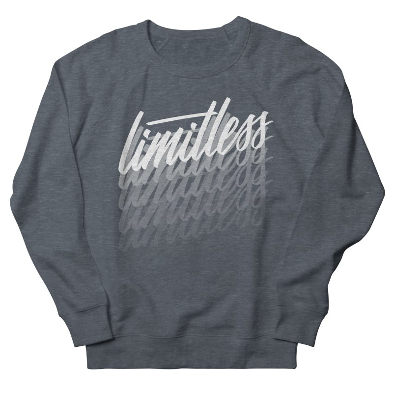 Limitless - White Women's Sweatshirt by Original hand lettered apparel