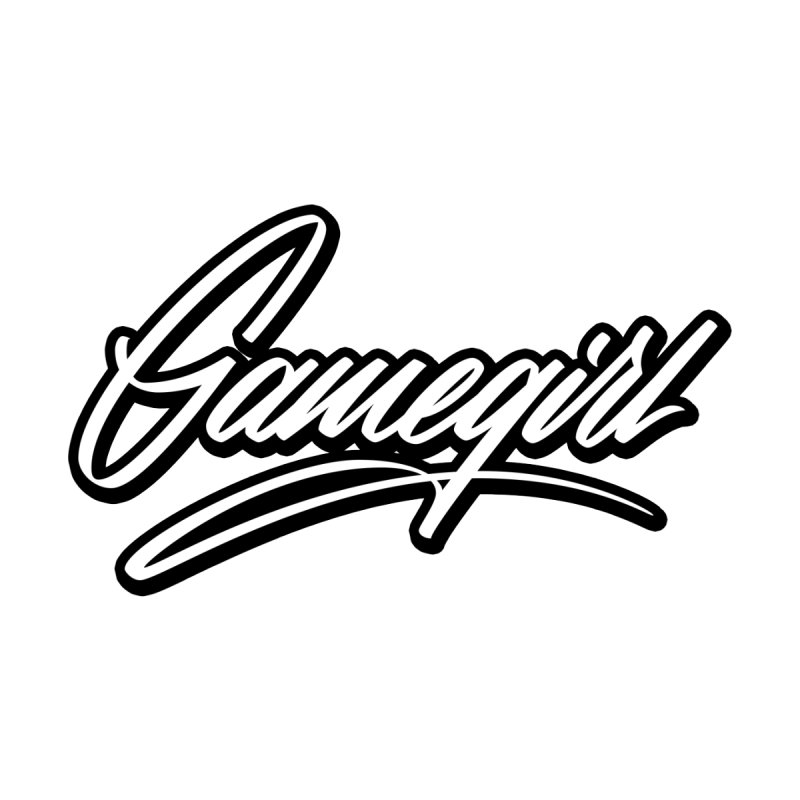 GameGirl Outlined Men's Zip-Up Hoody by Original hand lettered apparel