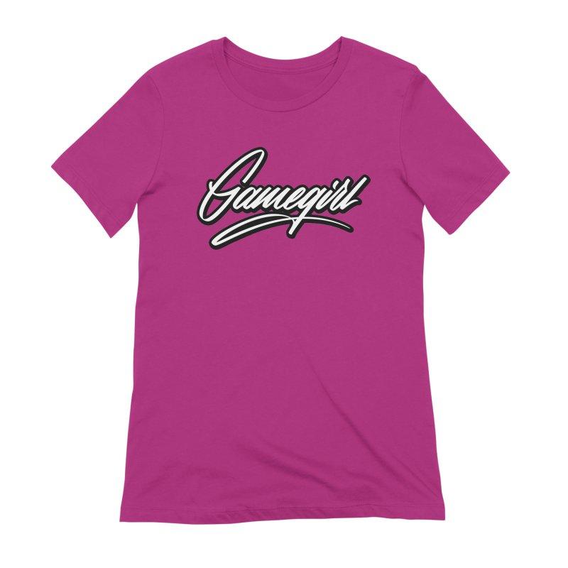 GameGirl Outlined Women's T-Shirt by Original hand lettered apparel