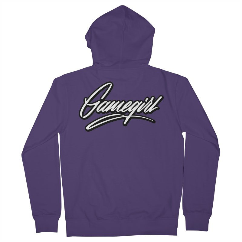 GameGirl Outlined Women's Zip-Up Hoody by Original hand lettered apparel