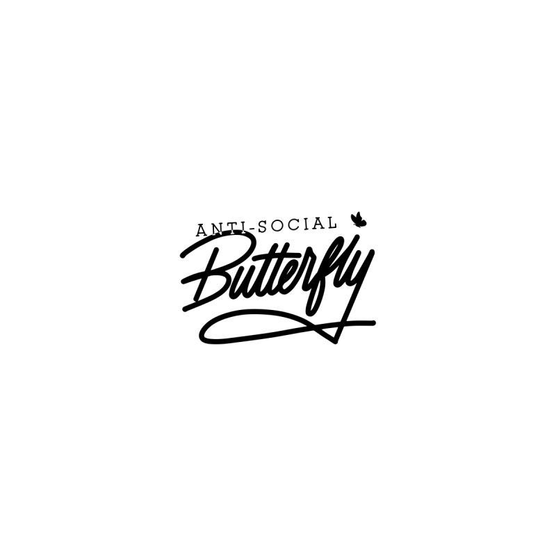 Anti-Social Butterfly Women's T-Shirt by Original hand lettered apparel