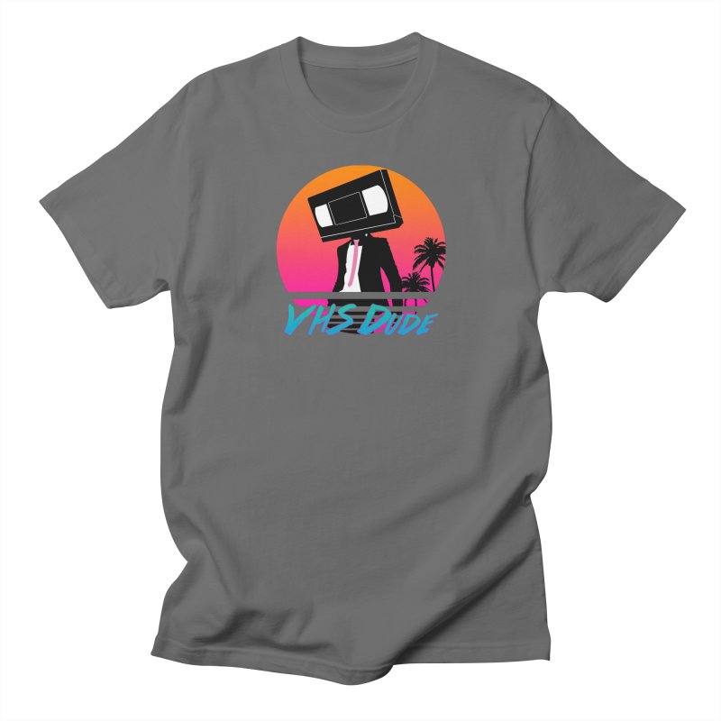 "VHS Dude ""Sunset"" Men's T-Shirt by CASINOSKUNK PRODUCTIONS"