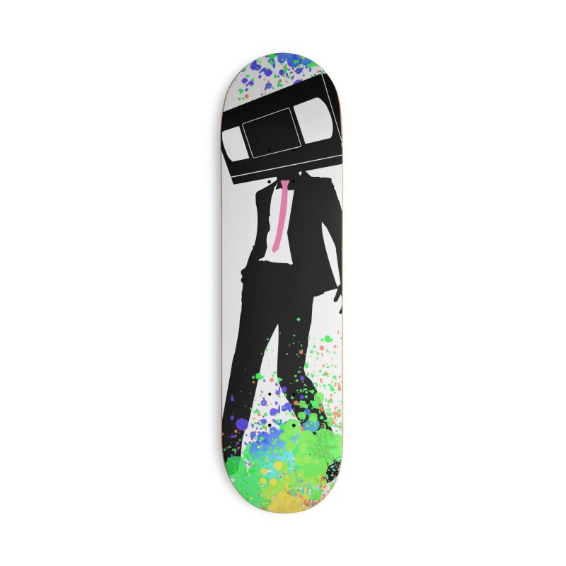 "VHS Dude ""Splatter Deck"" Accessories Skateboard by CASINOSKUNK PRODUCTIONS"