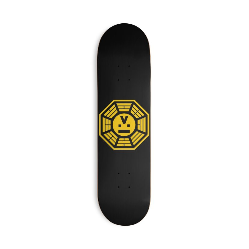 "Dharmalars Logo ""Goldenrod"" Accessories Skateboard by CASINOSKUNK PRODUCTIONS"