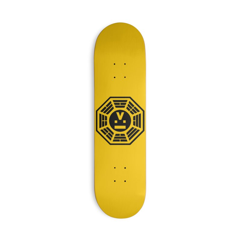 "Dharmalars Logo ""Black"" Accessories Skateboard by CASINOSKUNK PRODUCTIONS"