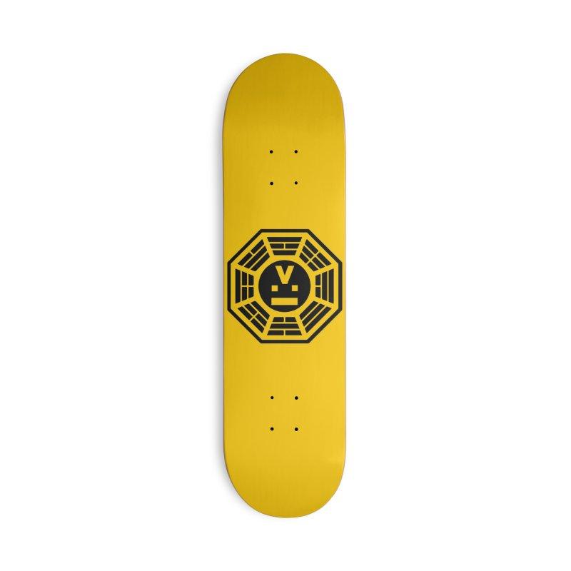 "Dharmalars Logo ""Black"" Accessories Skateboard by CASINOSKUNK PRODUCTIONS"